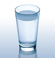 Glass water vector image vector image