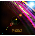 Abstract light color glowing line design against vector image vector image