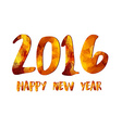 Happy New Year 2016 gold greeting card made in vector image