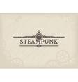 Steampunk Label vector image