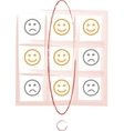 Smiley tic tac toe game vector image