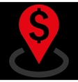 Bank Location Flat Icon vector image