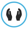 Care Hands Flat Icon vector image