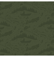 Seamless pattern for fishing theme With vector image