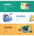 back to school web banners set vector image