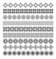 arabic frame ornament pattern brush set vector image