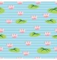 Seamless pattern with lake fulled water lilies vector image