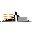 Asphalted road and barriers vector image