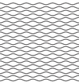 Black Wavy Line Seamless Pattern vector image