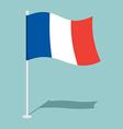 Flag of France Official national symbol national vector image