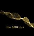 gold metallic wave glitter of confetti on a black vector image