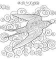 Happy swallow in the sky vector image
