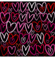 Hearts over black background vector image
