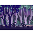 Mysterious night forest landscape vector image