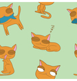 Seamless of cat vector image