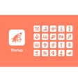 Set of startup simple icons vector image