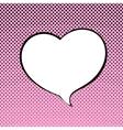 Speech Bubble Heart Shaped vector image