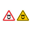 Stop police Warning sign cop Police badge Emblem vector image