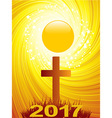 Abstract Cross and 2017 text background vector image