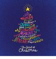 handwritten word cloud Christmas tree card vector image vector image