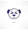 Smiling panda vector image vector image