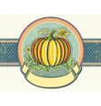 Pumpkin Vintage label on old paper vector image vector image