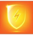 Orange glass shield vector image