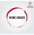 Badge or label for wine winery or wine house vector image vector image
