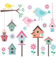 Little BirdBird HousesBirds and FlowersBranches vector image