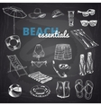 Hand drawn  Beach essentials vector image