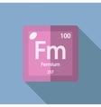 Chemical element Fermium Flat vector image vector image