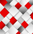 Abstract white and red square background vector image