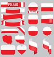 poland flags vector image