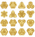 set of gold ornamental mandalas vector image