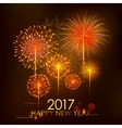 Happy New Year 2017 celebration abstract Starburst vector image vector image