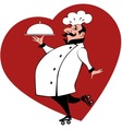 Chef on roller skates vector image