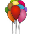 Floating Balloons vector image vector image