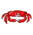 Colorful red cartoon crab vector image vector image