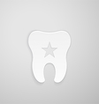 Emblem tooth with a star inside vector image vector image