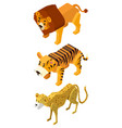 3d design for lion and tigers vector image