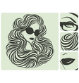 long curly hairstyle vector illustration vector image
