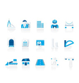architecture and construction icons vector image vector image