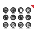 Copy icons on white background vector image