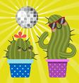 Disco Cactus vector image
