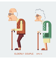 Elderly people vector image