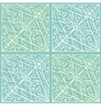 Green geometric pattern vector image