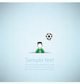 Soccer ball Poster Soccer ball banner design vector image