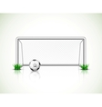 Soccer goal and ball vector image
