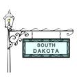 South Dakota retro pointer lamppost vector image