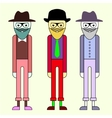 with hipster characters vector image